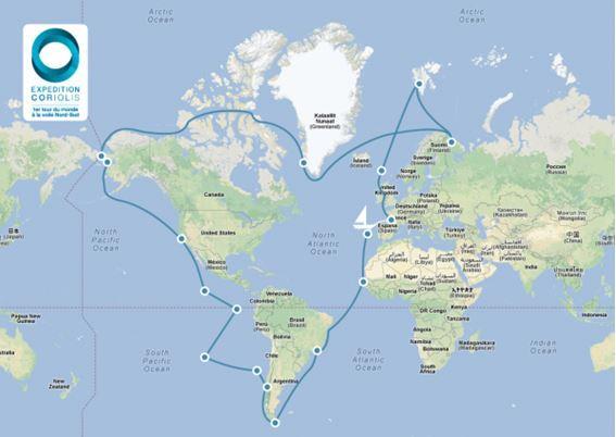 3i3s Partenaire du premier Tour du Monde Nord Sud «Expédition CORIOLIS 14»