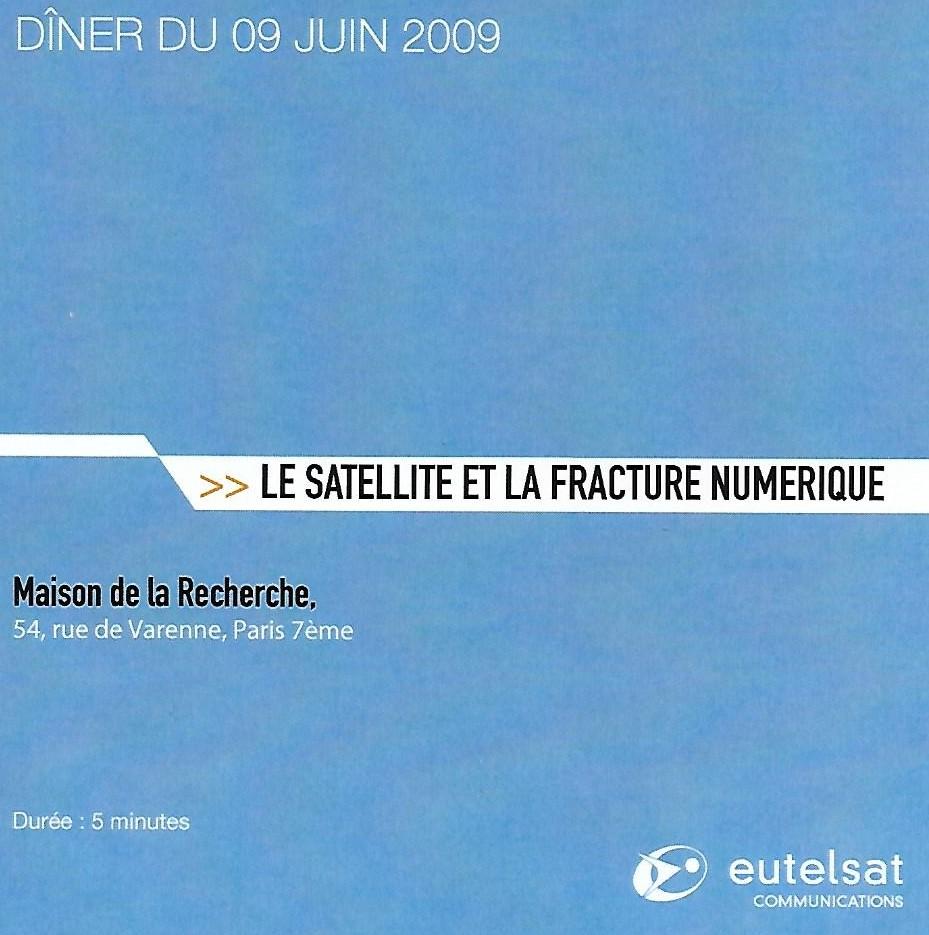 3i3s – EUTELSAT : Le satellite et la fracture numérique