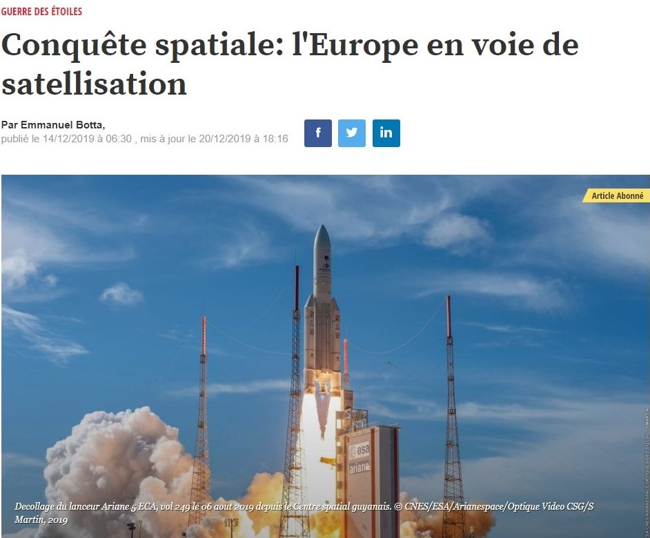 3i3s – L'EXPRESS économie » L'EUROPE EN VOIE DE SATELLISATION » Emmanuel BOTTA