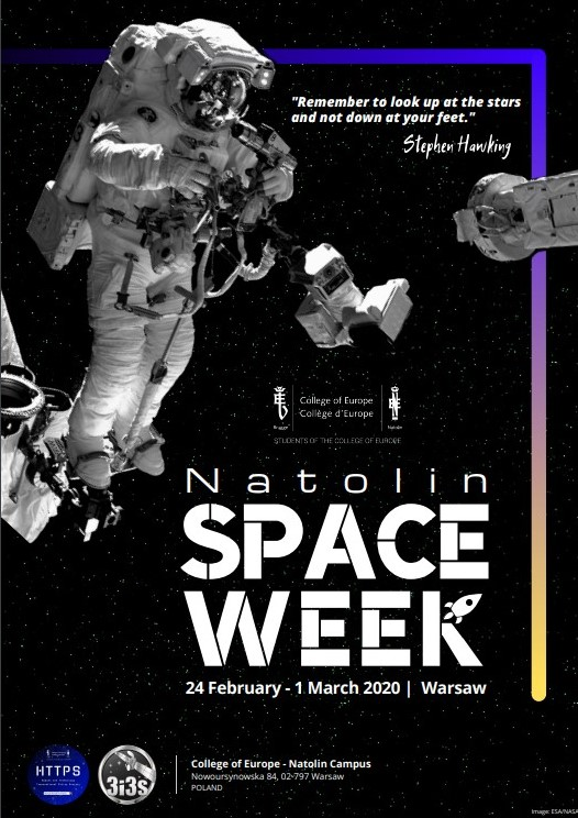 3i3s- 24th February – 01 st March 20202 Natolin SPACE WEEK  Warsaw