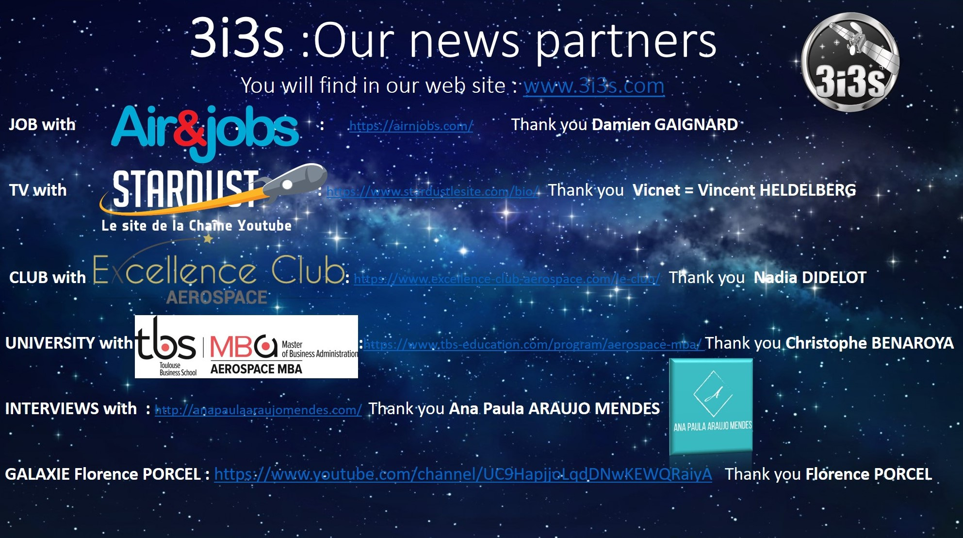 3i3s Our news Partners  May 2020