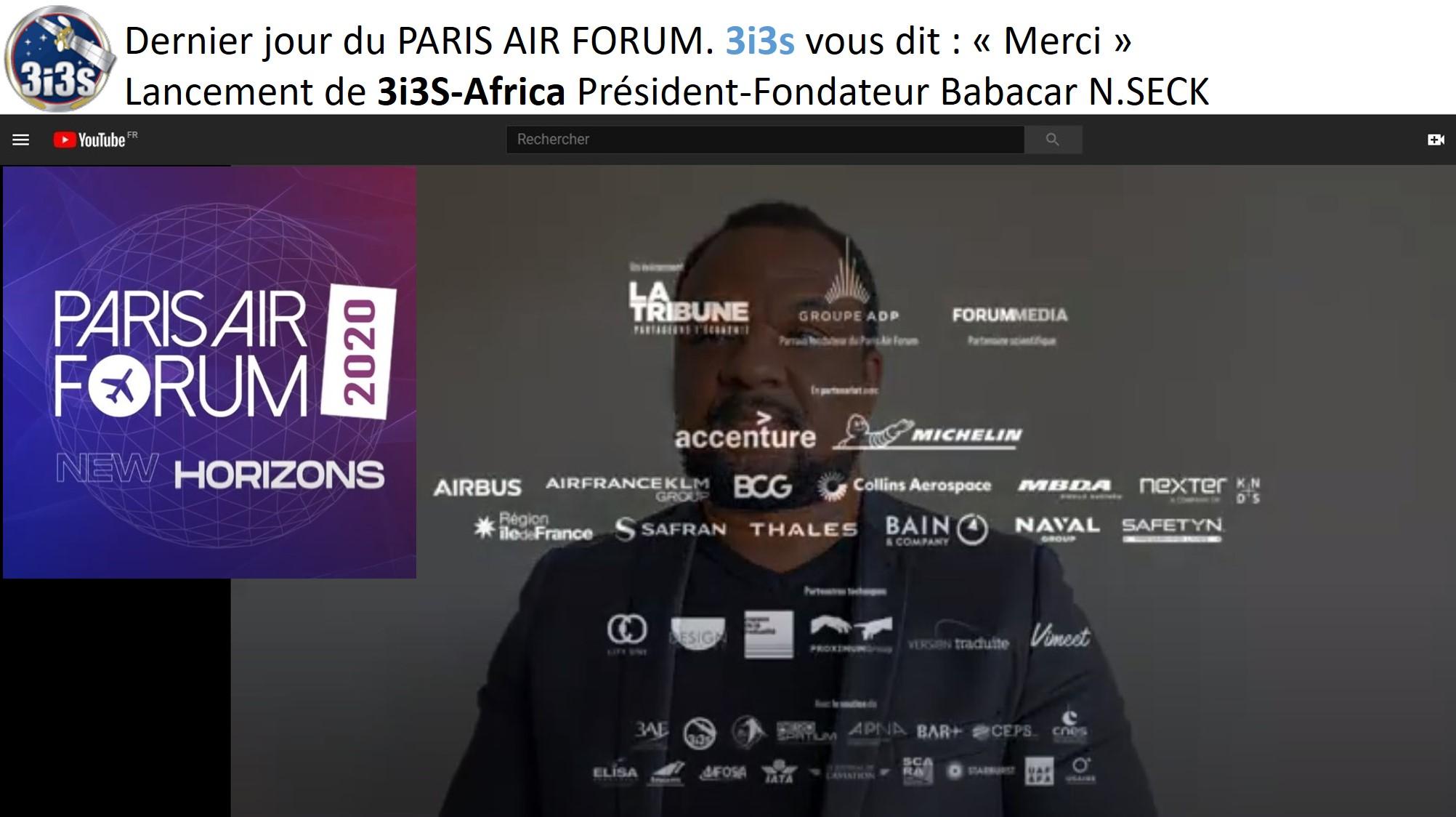 3i3s – PARIS AIR FORUM 7ème Edition Babacar N.SECK 3i3s Africa