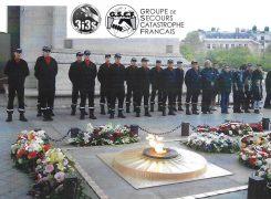 3i3s – GSCF : Dépose une gerbe «3i3s» à L' Arc de Triomphe