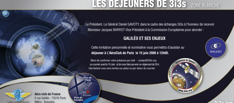 Jacques BARROT : Lancement de GALILEO