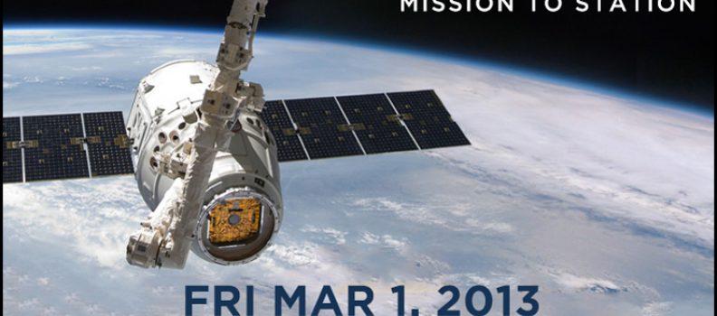 SPACE X Invite 3i3s au lancement de DRAGON DELIVERS 01 Mars 2013